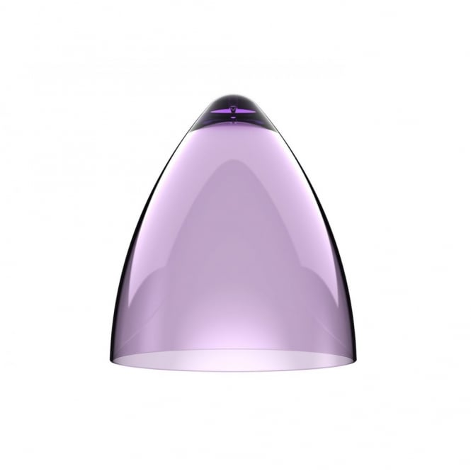 Design For The People FUNK large transparent purple pendant light shade (part of a set)