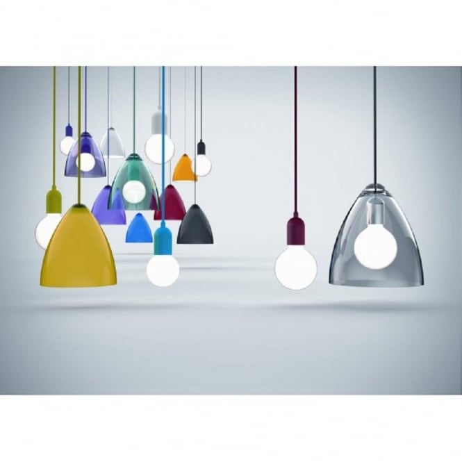 Funk red cord light pendant for sloping ceilings funk red pendant light set cord mozeypictures Images