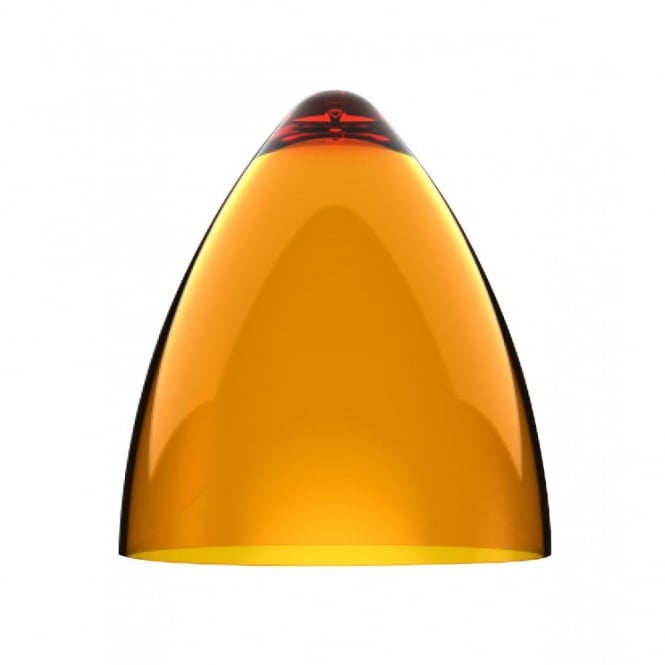 Design For The People FUNK transparent orange pendant light shade (part of a set)