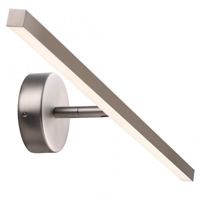IP S13 60 LED bathroom over mirror light in brushed steel finish