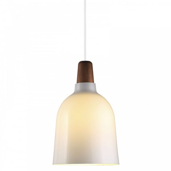 Design For The People KARMA 20 contemporary ceiling pendant (white - glass)