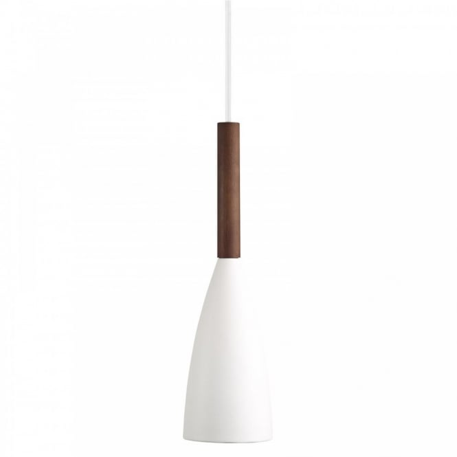 PURE contemporary ceiling pendant (white & wood)