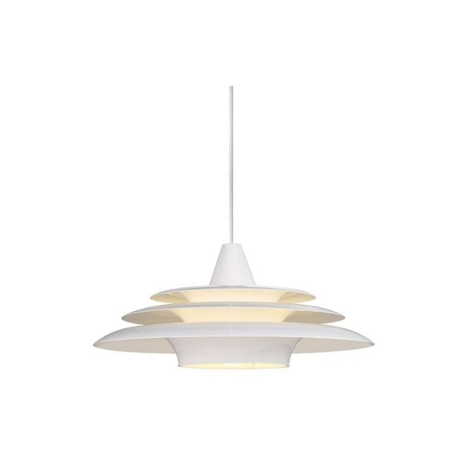 Design For The People SATURN contemporary ring tiered ceiling pendant in white finish