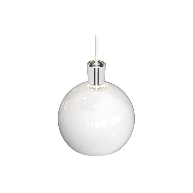 Design For The People SHAPE-1 glossy white globe ceiling pendant
