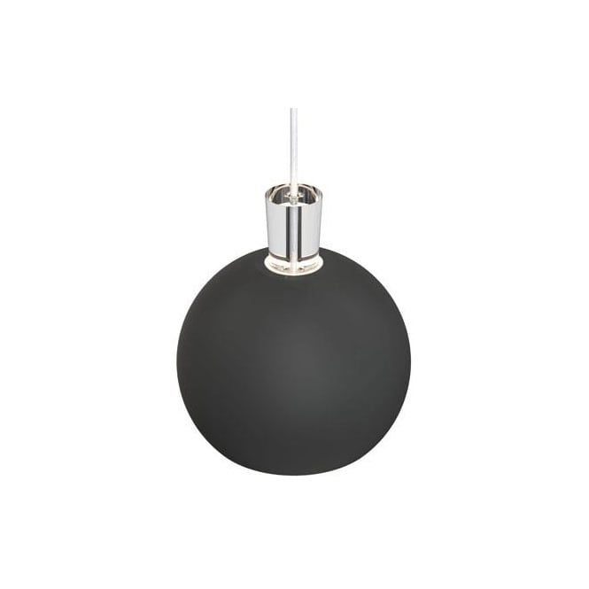 Design For The People SHAPE-1 matt black globe ceiling pendant