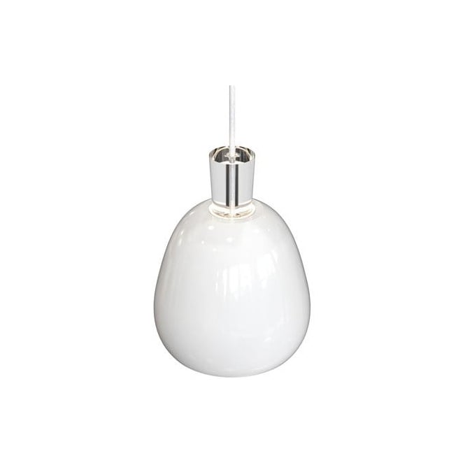 Design For The People SHAPE-2 glossy white modern ceiling pendant