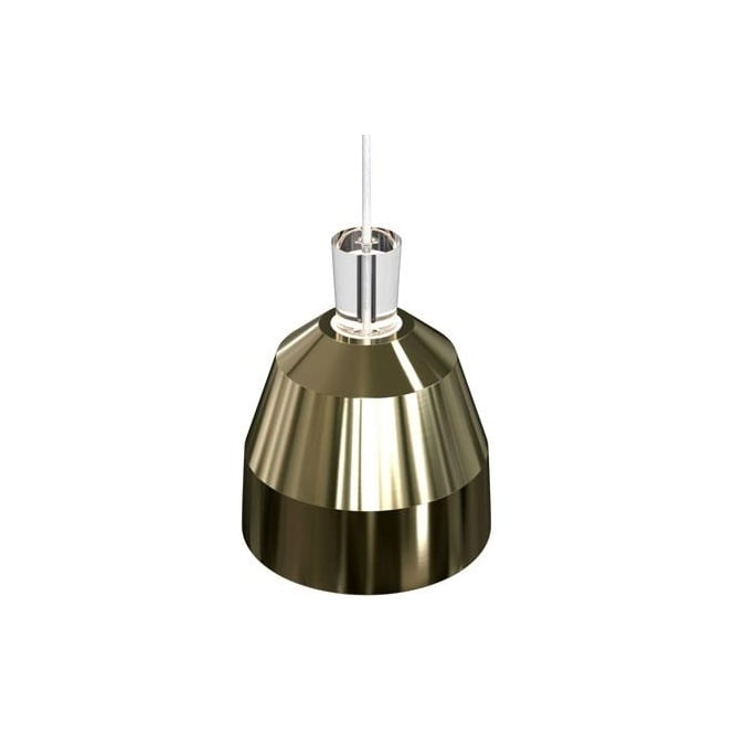 Design For The People SHAPE-3 geometric dome ceiling pendant in glossy brass finish