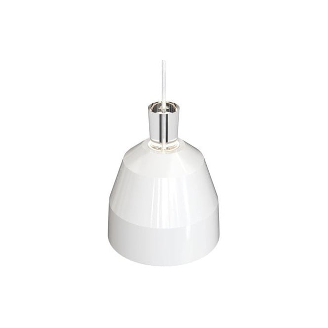 Design For The People SHAPE-3 geometric dome ceiling pendant in glossy white finish