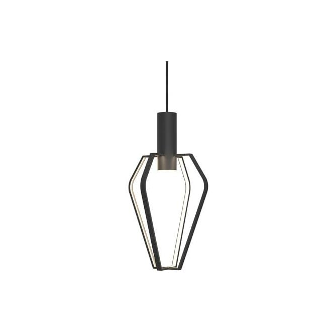 Design For The People SPIDER contemporary LED ceiling pendant in matt black finish