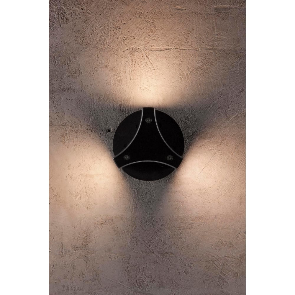 Contemporary trigonal LED exterior wall lightContemporary LED Exterior Wall Light in a Black Finish. Contemporary Exterior Wall Lights Uk. Home Design Ideas