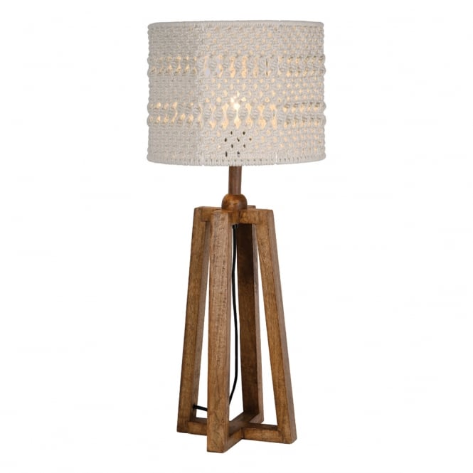 Devyn Dark Washed Wood Table Lamp Base