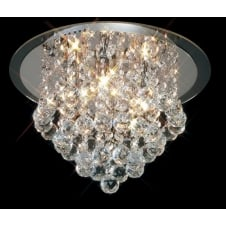 ATLA chrome & Asfour lead crystal chandelier for low ceilings