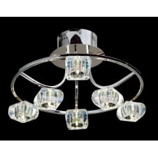 POLANA modern circular ceiling light for low ceilings