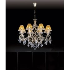 TORINO large 8 light gold plated Asfour lead crystal chandelier