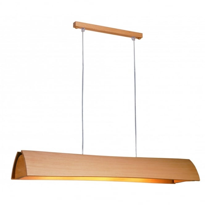 Domus ARCUS long wooden ceiling pendant (beech)