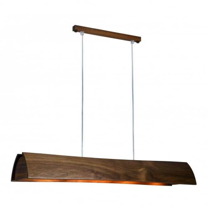 ARCUS long wooden ceiling pendant (walnut)
