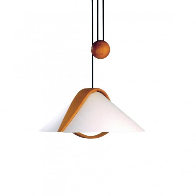 Domus ARTA contemporary wooden rise and fall ceiling pendant