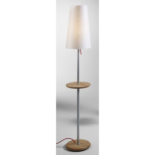 modern design floor lamp with table white oak wood