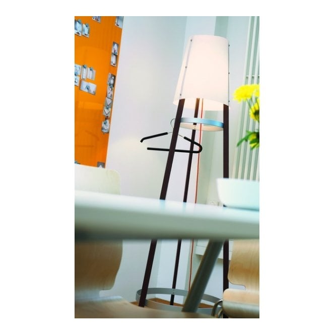 WAI TING contemporary wooden floor lamp (maron oiled)