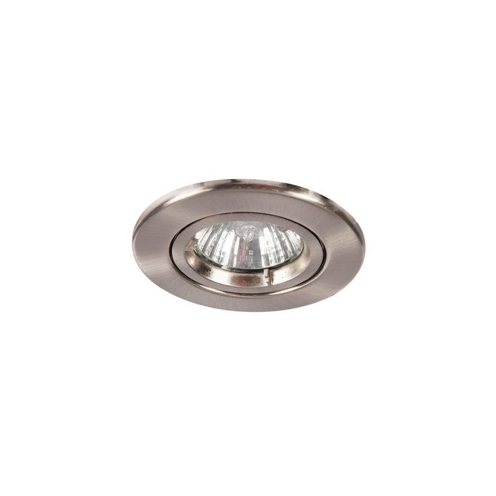 Downlight twist and lock gu10 spot satin chrome