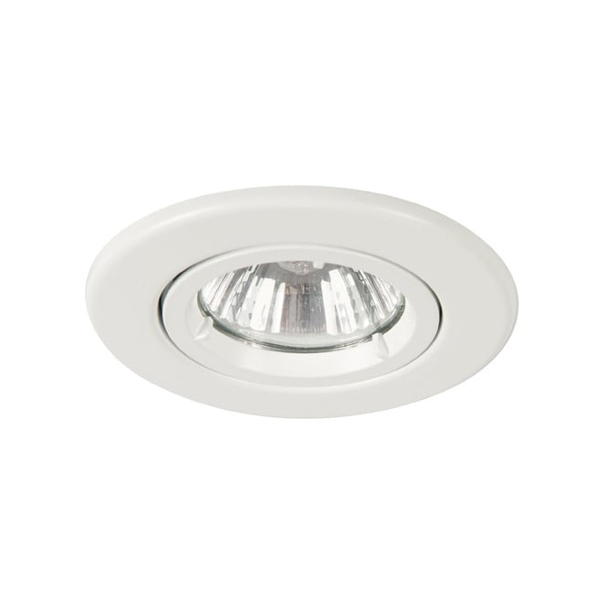 Fire rated mains voltage downlight in white finish dimmable downlight twist and lock gu10 spot white aloadofball