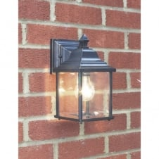 Traditional period garden lighting front door lights outdoor lanterns doyle double insulated black gold garden wall lantern aloadofball Images