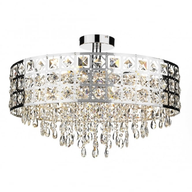 Ss Modern Circular Chandelier For Low Ceilings