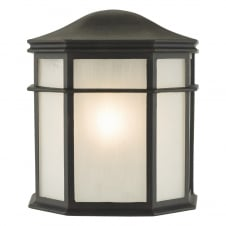 traditional outdoor wall lantern in black with opal diffuser