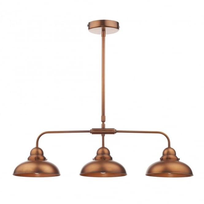 Dynamo Antique Copper 3 Light Bar Pendant