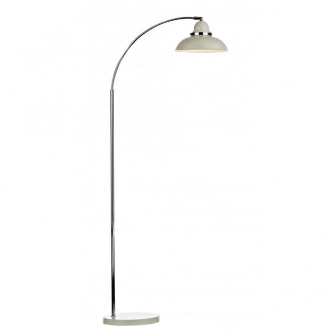wholesale dealer 9eaf9 57cdb DYNAMO cream & chrome retro style floor lamp