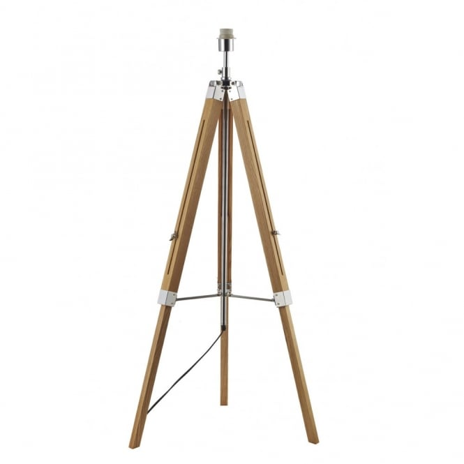 Contemporary Wooden Floor Lamp Base Double Insulated