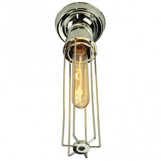 Edison Lighting Alexander Flush Polished Nickel C/W LB1 Bulbs
