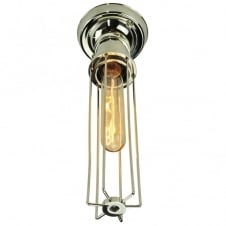 Alexander Flush Polished Nickel C/W LB1 Bulbs