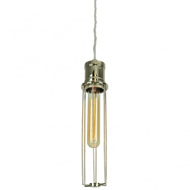 Edison Lighting Alexander Pendant Polished Nickel C/W LB1 Bulbs