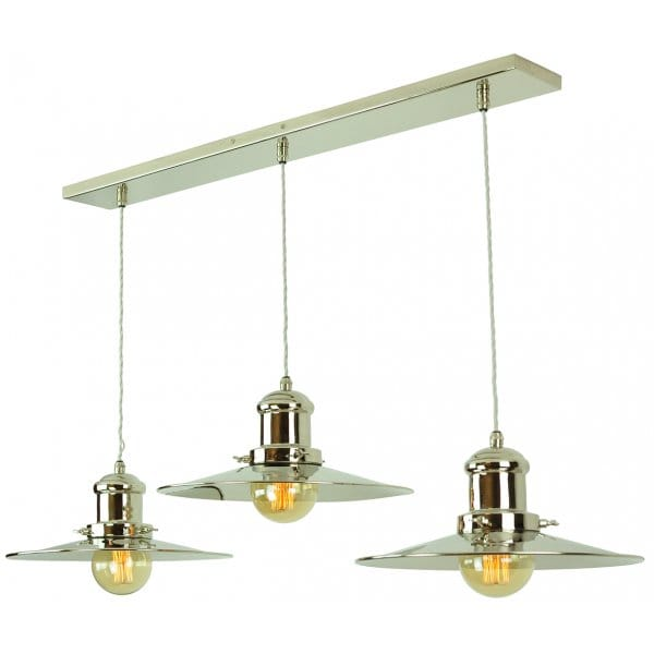 Vintage Industrial Design 3 Light Ceiling Bar Pendant