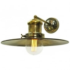 vintage industrial antique brass wall light with vintage bulb