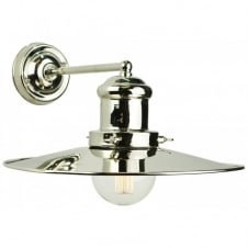 Large Edison Wall Polished Nickel C/W LB3 Bulbs