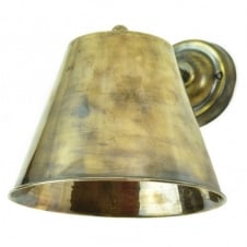 vintage antique brass wall light in antique brass with LED bulb