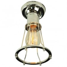 Marconi Flush Polished Nickel C/W LB2 Bulbs