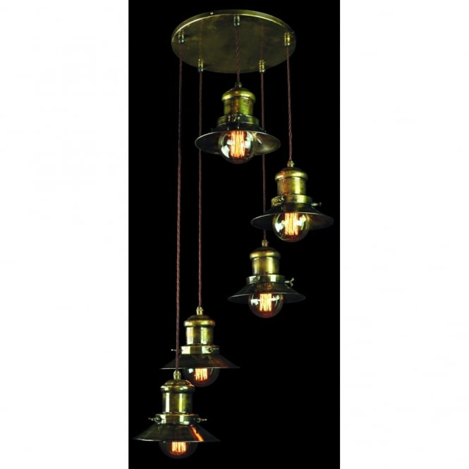 Ste&unk Lighting Styles. Industrial brass Cluster Light fitting  sc 1 st  The Lighting Company & Steampunk Lights quality solid brass and vintage filament light bulbs