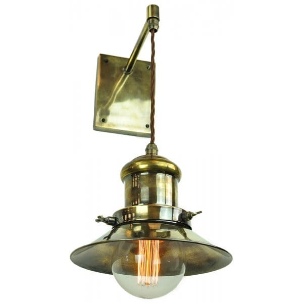 Vintage Style Industrial Wall Light W/ Suspended Shade