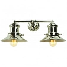 Small Edison Double Wall Polished Nickel C/W LB3 Bulbs
