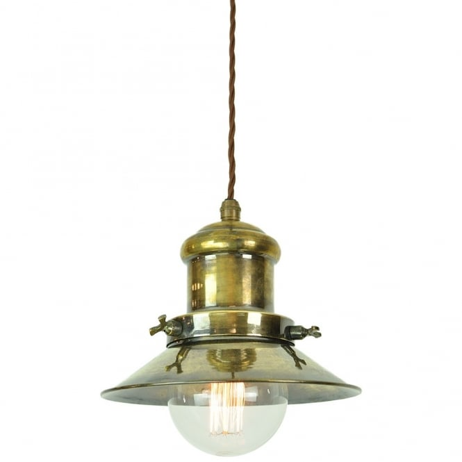 Edison Lighting Small Edison Pendant Antique Brass C/W LB3 Bulbs