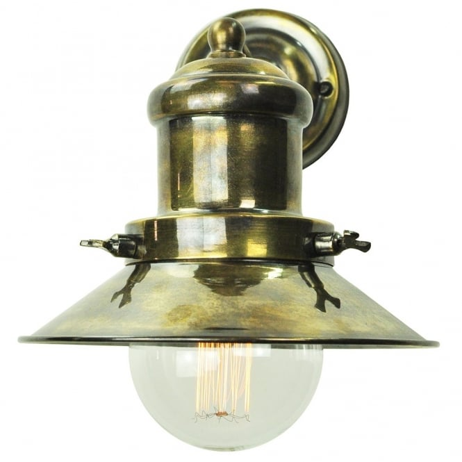 Edison Lighting Small Edison Wall Antique Brass C/W LB3 Bulbs