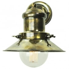 vintage industrial antique brass wall light with decorative vintage bulb
