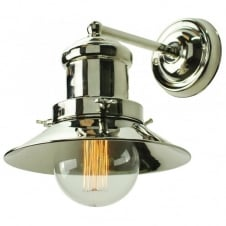 Small Edison Wall Polished Nickel C/W LB3 Bulbs
