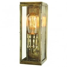 vintage antique brass wall lantern with retro filament bulb