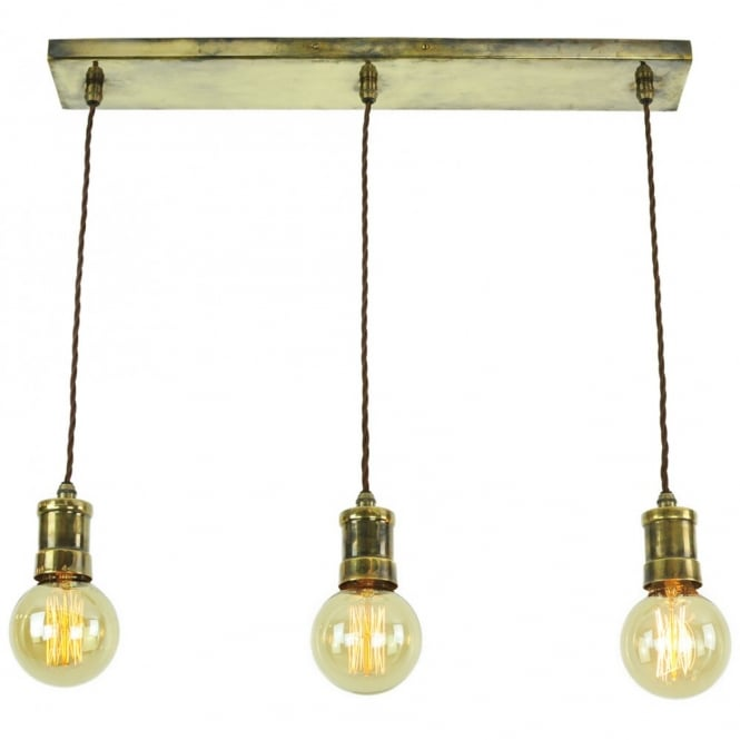 Steampunk lighting quality solid brass and vintage filament light bulbs bare filament bulb light fitting over a bar or table aloadofball Image collections