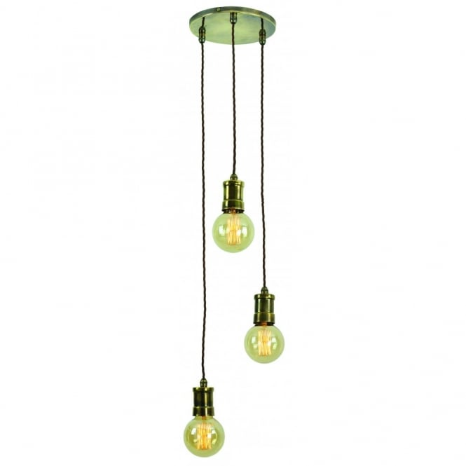 Vintage style lighting fixtures Pendant Lighting Edison Lighting Tommy Cluster Light In Solid Brass Featuring Vintage Style Filament Bulbs Included The Lighting Company Cluster Pendant Light Fitting With Vintage Style Light Bulbs Lights Uk
