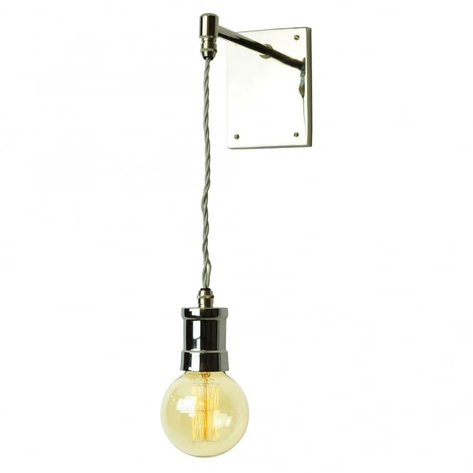 Edison Lighting TOMMY Hanging Pendant Wall Light Industrial Style Polished Nickel bulb included.